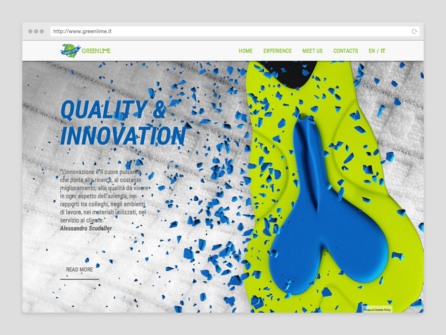 GreenLime Sito Web - Quality Innovation